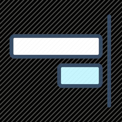 align to right, developer, right, right align icon
