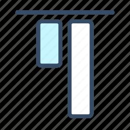 align to top, developer, top, top align icon