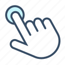 developer, finger, tap, touch, touch screen icon