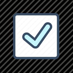 check mark, confirmation, developer, done, form element, mark icon