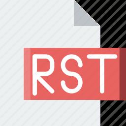 code, coding, development, file, programming, rst icon