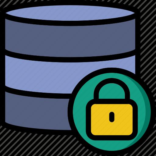 code, coding, database, development, locked, programming icon