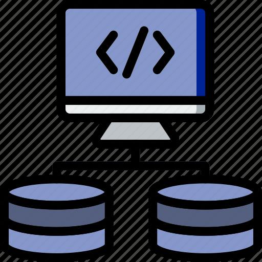 code, coding, database, development, programming, upload icon