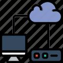 development, code, coding, programming, transfer, cloud icon