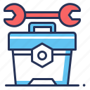 repairing, technical tools, toolkit, wrench icon