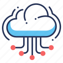 cloud, hosting, server, web icon