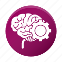 brain, development, gear, solution, startup icon