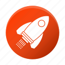 development, launch, rocket, startup icon