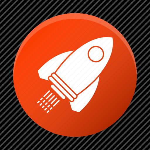 development, launch, rocket, startup icon