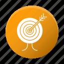 development, goal, seo, startup, target icon