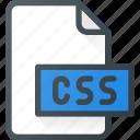 css, development, extension, file, programing, type icon