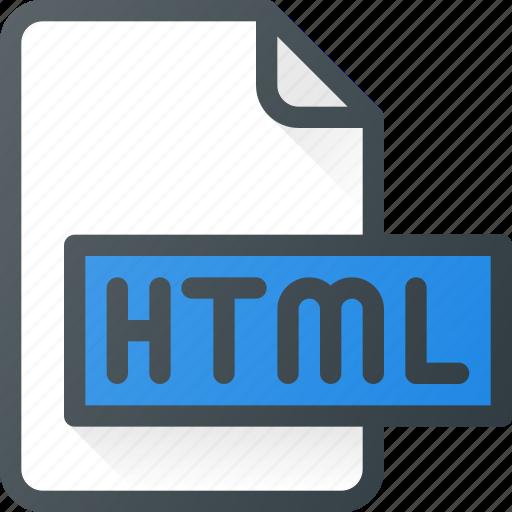 development, extension, file, html, programing, type icon