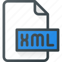 development, extension, file, programing, type, xml icon