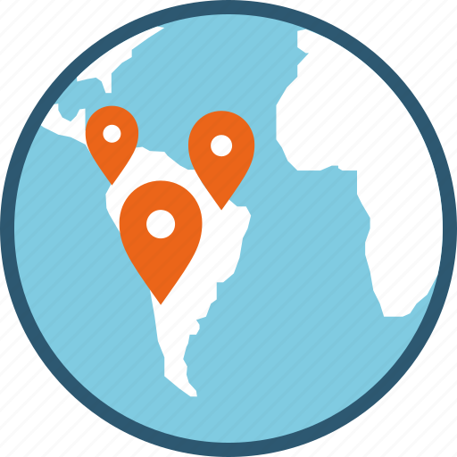 affiliate, area, branches, delivery, departments, distribution, location, logistics, map, pins, point, store icon