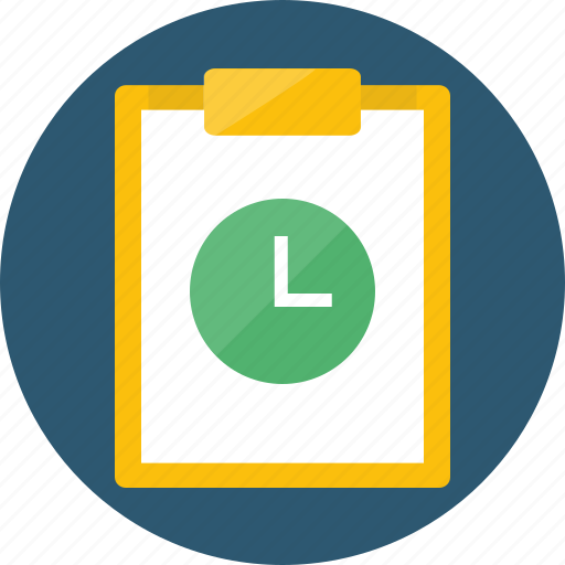 accomplish, adjourn, allotted time, audit, available, break, challenge, delay, duration, estimation, log, logging, organize, overtime, period, periodicity, postpone, remain, routine, task, time, timecard, timeframe, timesheet icon