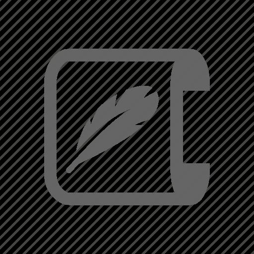 log, pen, tool icon