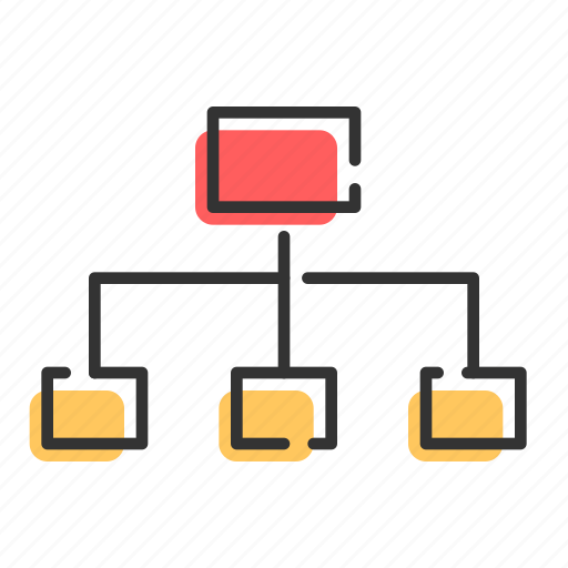 business, distribute, relationship, share, structrucre icon