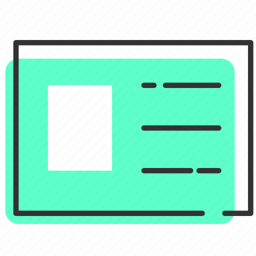 Business, card, info, name, profile icon - Download on Iconfinder