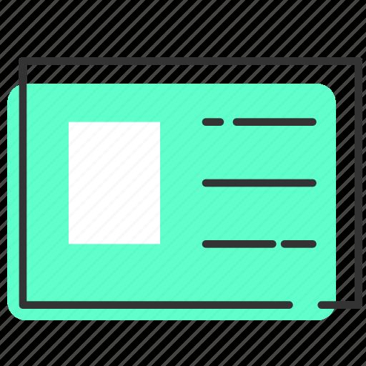 business, card, info, name, profile icon
