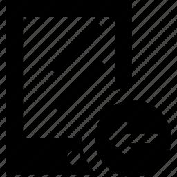 arrow, device, gadget, left, mobile icon