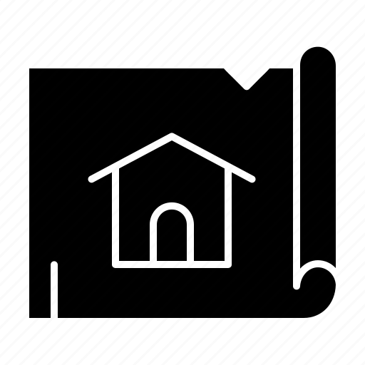 building, construction, house, map icon