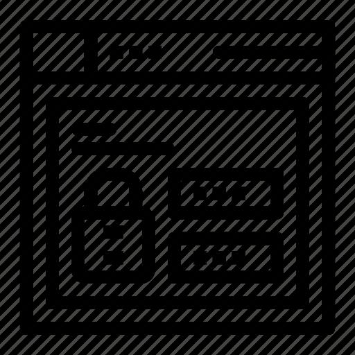browser, code, louck, web icon