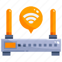 device, hardware, internet, office, router, technology icon