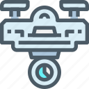cam, delivery, device, drone, fly, technology icon