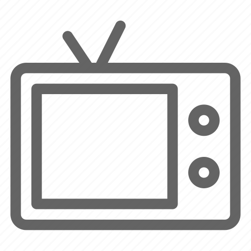 electronic, television, tv icon