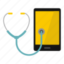 access, alert, attention, block, break, phone, phone diagnosis icon