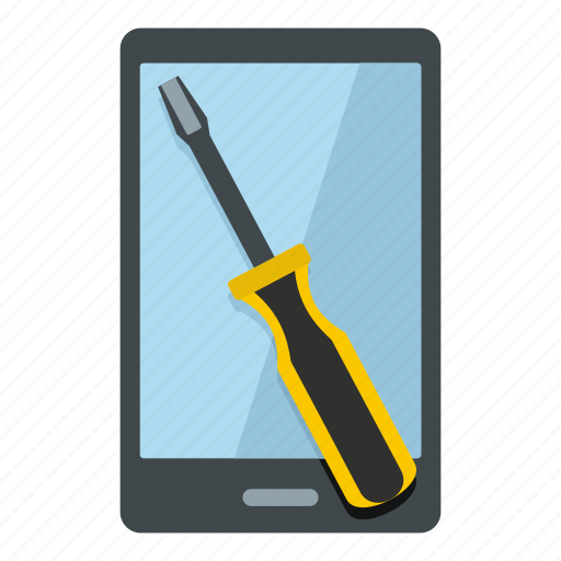 broken, cellphone, device, gadget, mobile, phone, renovation phone icon