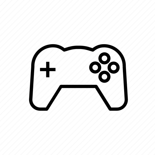 controller, game, gamepad, joystick, outline, play icon