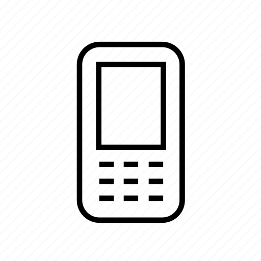 cell phone, device, mobile phone, mobilephone, mobilephone02, outline, smartphone icon