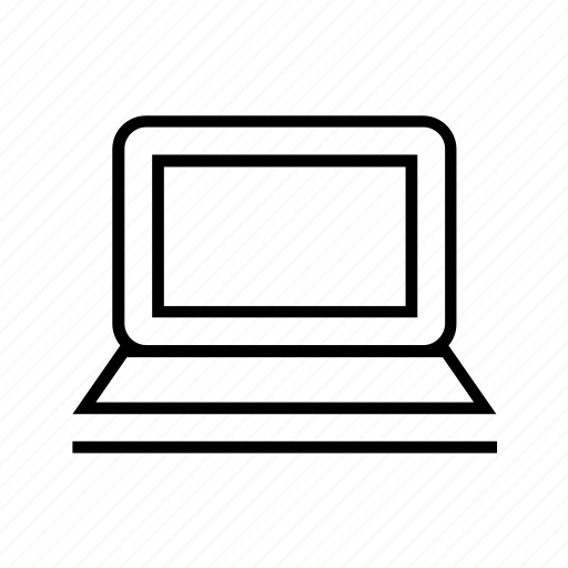 computer, device, laptop, notebook, notepad, outline icon