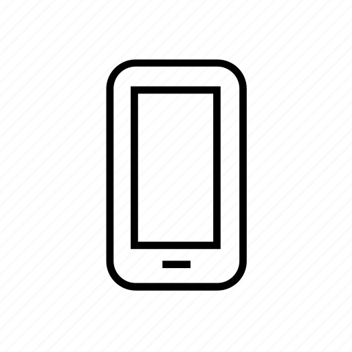 communication, device, mobile, outline, smart phone, smartphone, smartphone01 icon