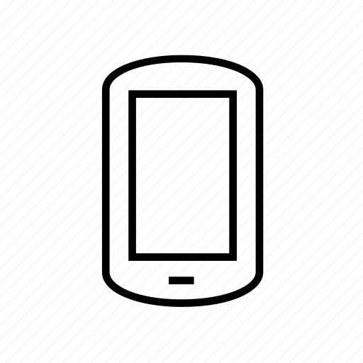 communication, device, mobile, outline, smart phone, smartphone, smartphone03 icon