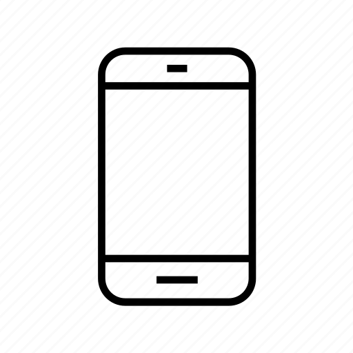 communication, device, mobile, outline, smart phone, smartphone, smartphone04 icon