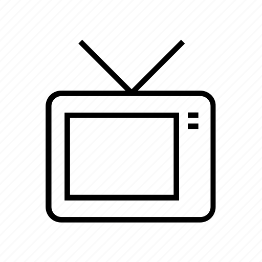 display, monitor, outline, screen, television, tv icon