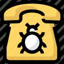 bug, call, device, phone, spy, telephone
