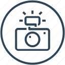 camera, device, flash, photography, picture icon
