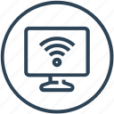 device, internet, signals, television, wifi icon