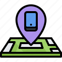 appliance, device, electronics, gadget, location, map, phone icon