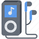 appliance, device, electronics, gadget, headphones, music, player icon