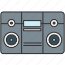 audio, boombox, device, music, sound icon