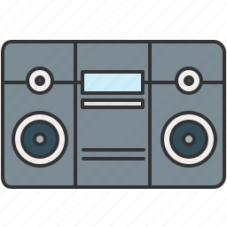 audio, boombox, device, music, sound icon