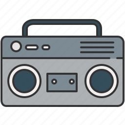 audio, cassette, device, music, player, sound, vintage icon