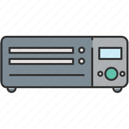 audio, cd, device, dvd, player, video icon