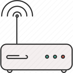 communication, connection, device, internet, modem icon