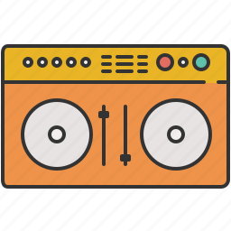 audio, device, dj, entertainment, music, player, turn table icon