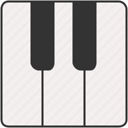 device, entertainment, keys, music, piano icon